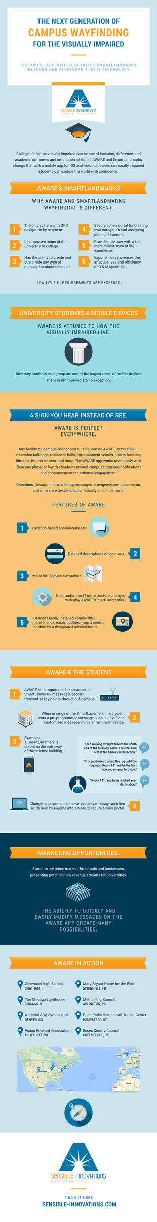 The Next Generation of Campus Wayfinding for the Visually Impaired Infographic