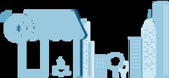 Coffee shop with SmartLandmark (iBeacon) Icon