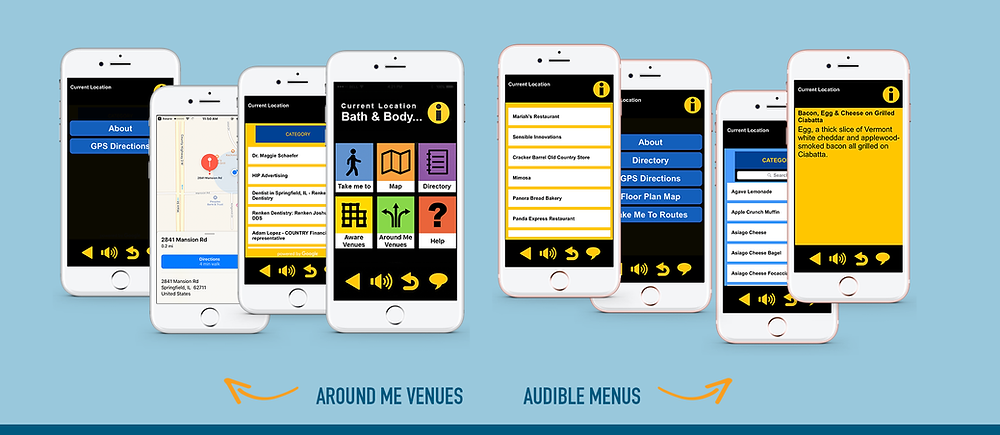 New AWARE Features: Around me venues and Audible menus