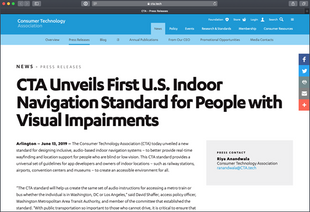 CTA Unveils First U.S. Indoor Navigation Standard for People with Visual Impairments