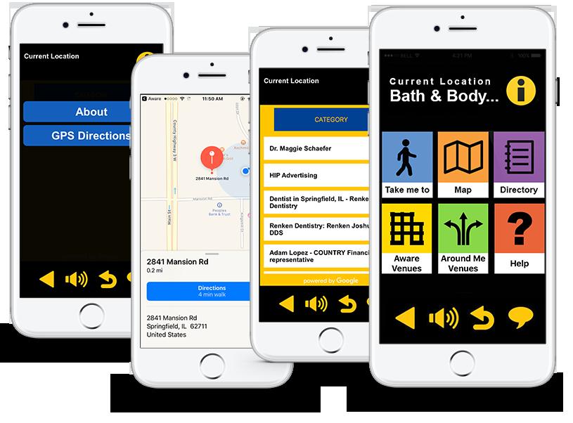 Audible Menus from Sensible Innovations AWARE app