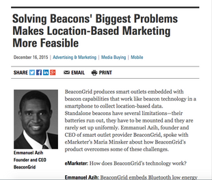 SOLVING BEACONS' BIGGEST PROBLEMS MAKES LOCATION-BASED MARKETING MORE FEASIBLE