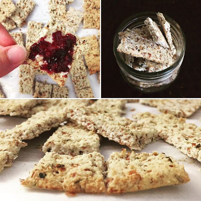 homemade almond meal crackers