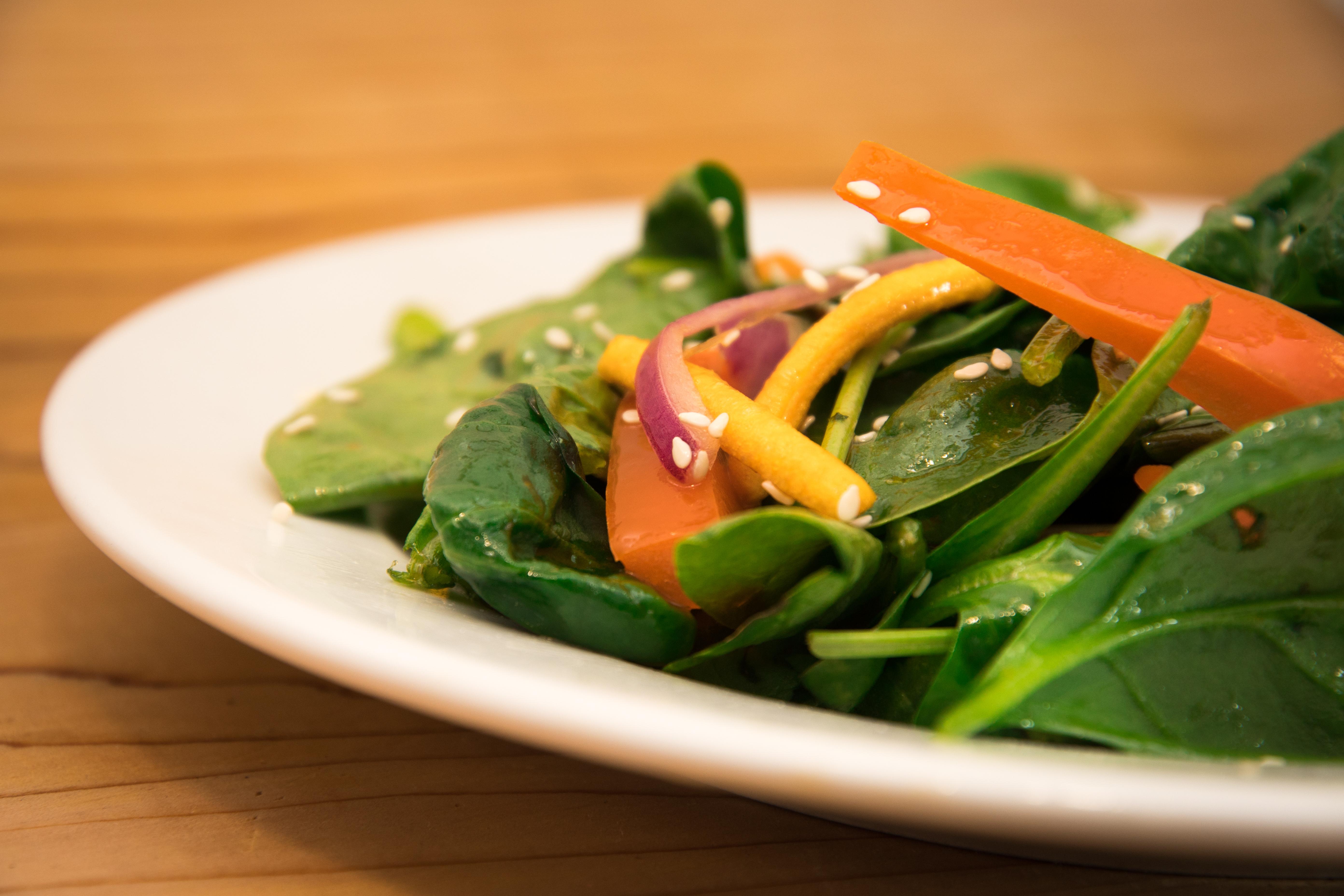 Salade Épinard Miel et Sésame