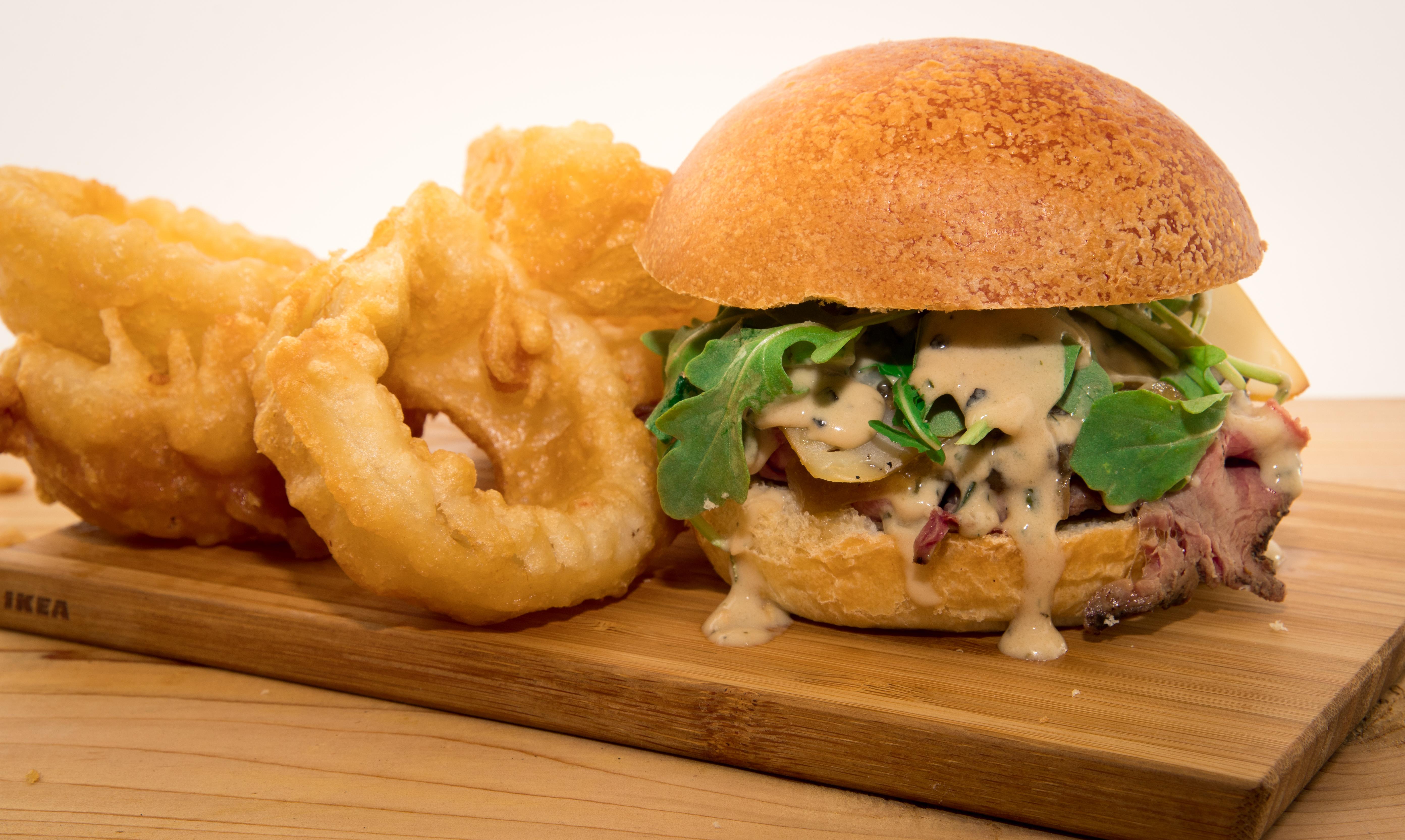 Burger Boeuf et Rondelles