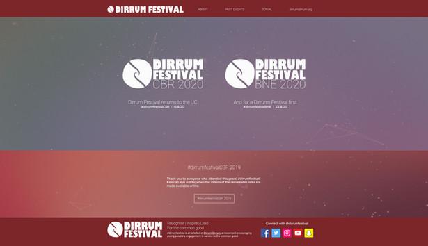 Dirrum Festival Home Page
