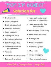 Bored Kids Solution List - Jennifer Daly