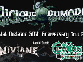 Vicious Rumors\Niviane Tour Dates Announced