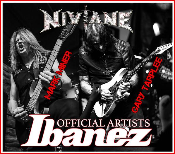 Niviane guitarists Gary Tarplee & Mark Miner official Ibanez sponsored artists