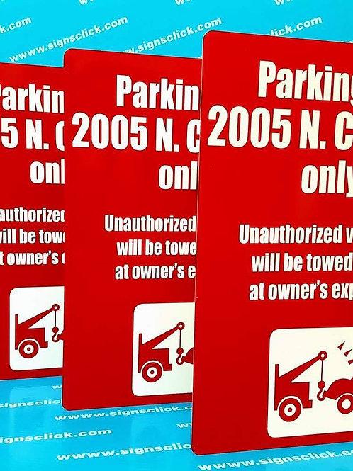 12 in x 18in  Aluminum Signs