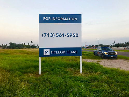 8'x8' Double Sided real estate sign