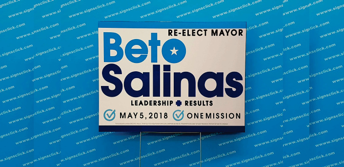 political Signs Beto Mayor yard sign