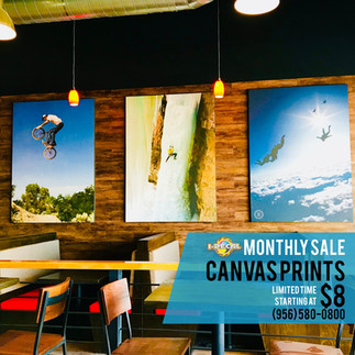 November Monthly Sale: Canvas Prints!