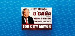 Armando Ocana political yard sign signs coroplastic