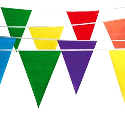 Lot Flags : Pennants Multi Color 105'ft