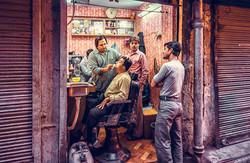Old Delhi barbershop