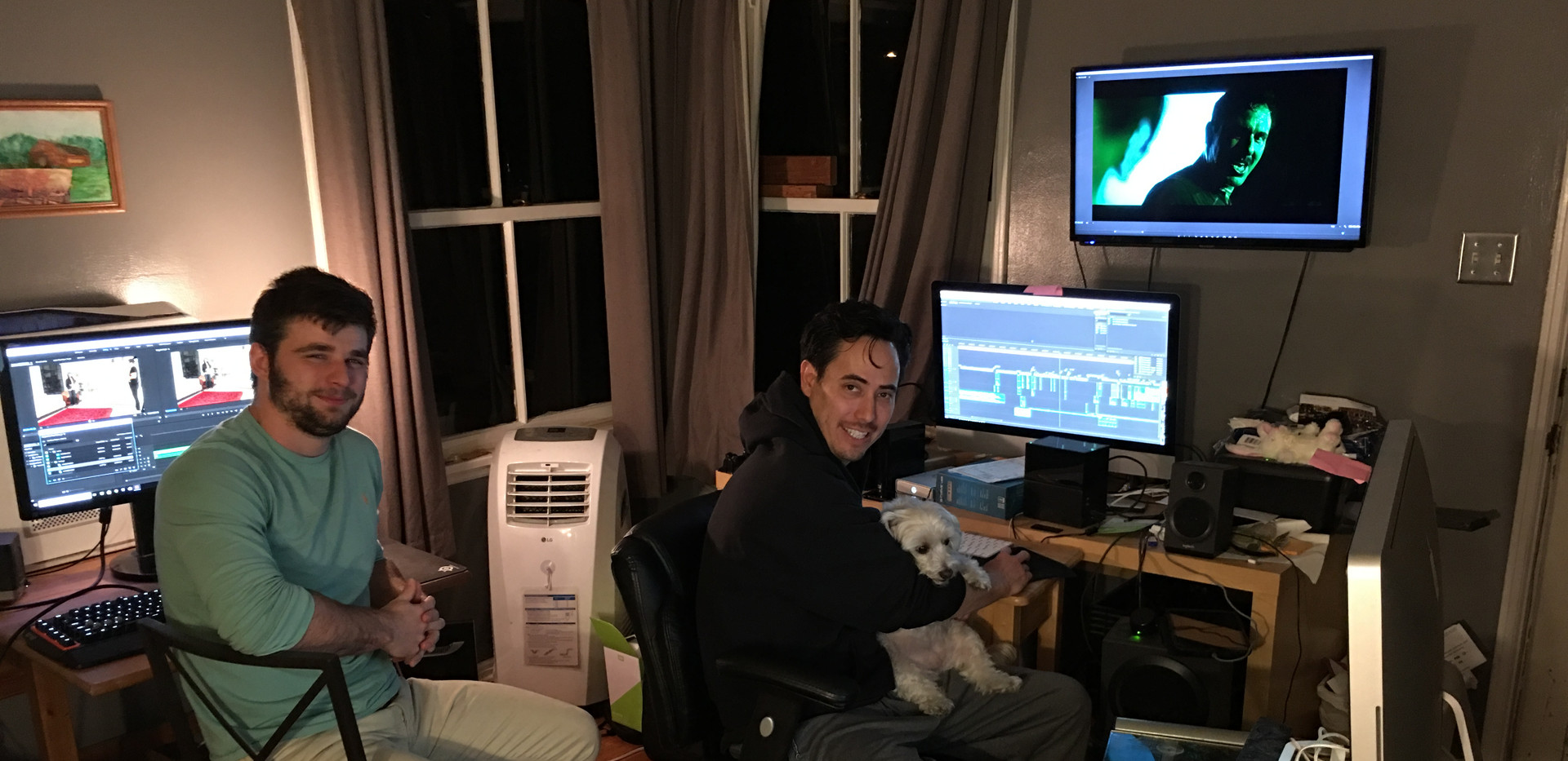 Editing session with Editor Chris Rossi and Director William Wayne