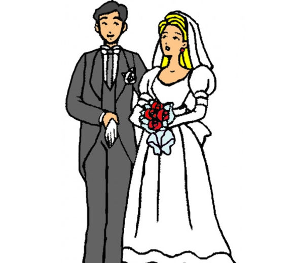 disegno-di-sposi-bouquet-fiori-colorato-