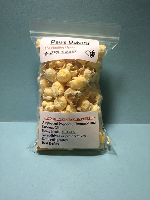 Coconut & Cinnamon Pupcorn (VEGAN)