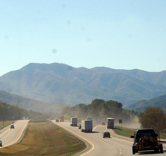 Auf dem Interstate geht es südwärts