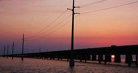 Sonnenuntergang an der 7-Mile-Bridge