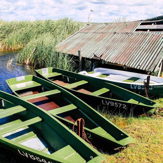 Bootsplatz im Papesee