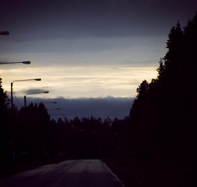 Am Ende einer Wetterfront Richtung Norden