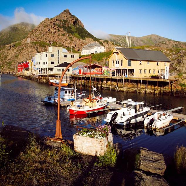 Der Hafen von Nyksund
