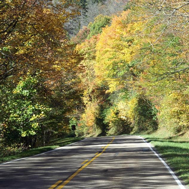 Weg durch die Blue Ridge Mountains