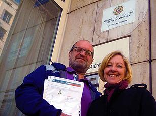 Besuch in der US-Botschaft in Wien