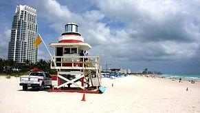Am Strand von Miami Beach