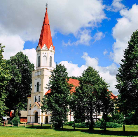 Lutherische Kirche von Rucava