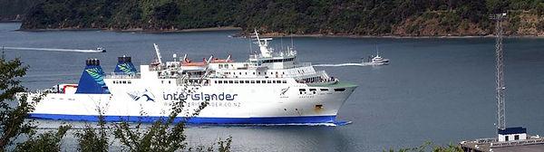 Ankunft per Fähre in Picton