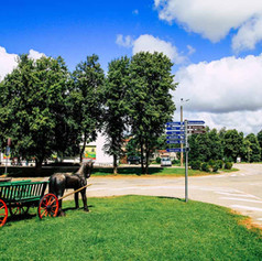Hauptplatz in Rucava