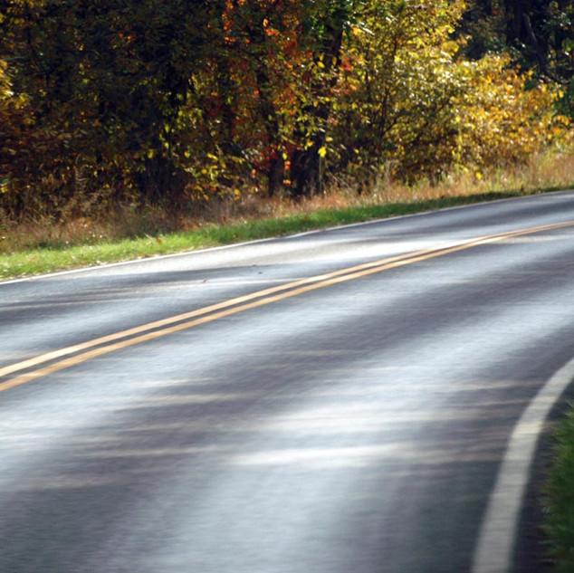 Fahrt entlang des Park Ridge Highways