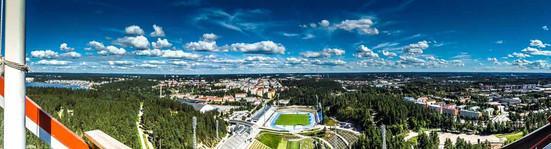 Blick von der Sprunganlage Lahti