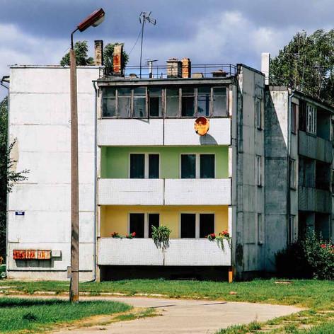 In den Plattenbauten leben die Russen