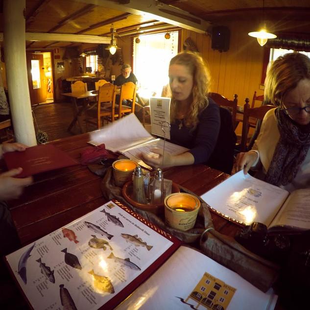 Abendessen in Nyksund