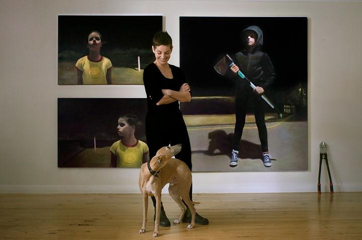 Rebecca Hastings Studio Shot (with Frank