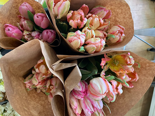 Mixed Tulip Bouquet available (April - May)