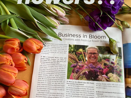 See our flower farm announcement in SPACES Mag. April/May issue.