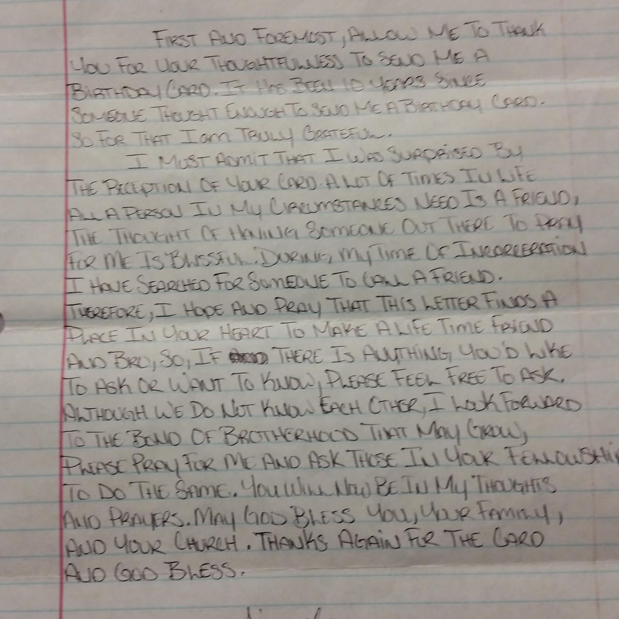 Letter from Deval