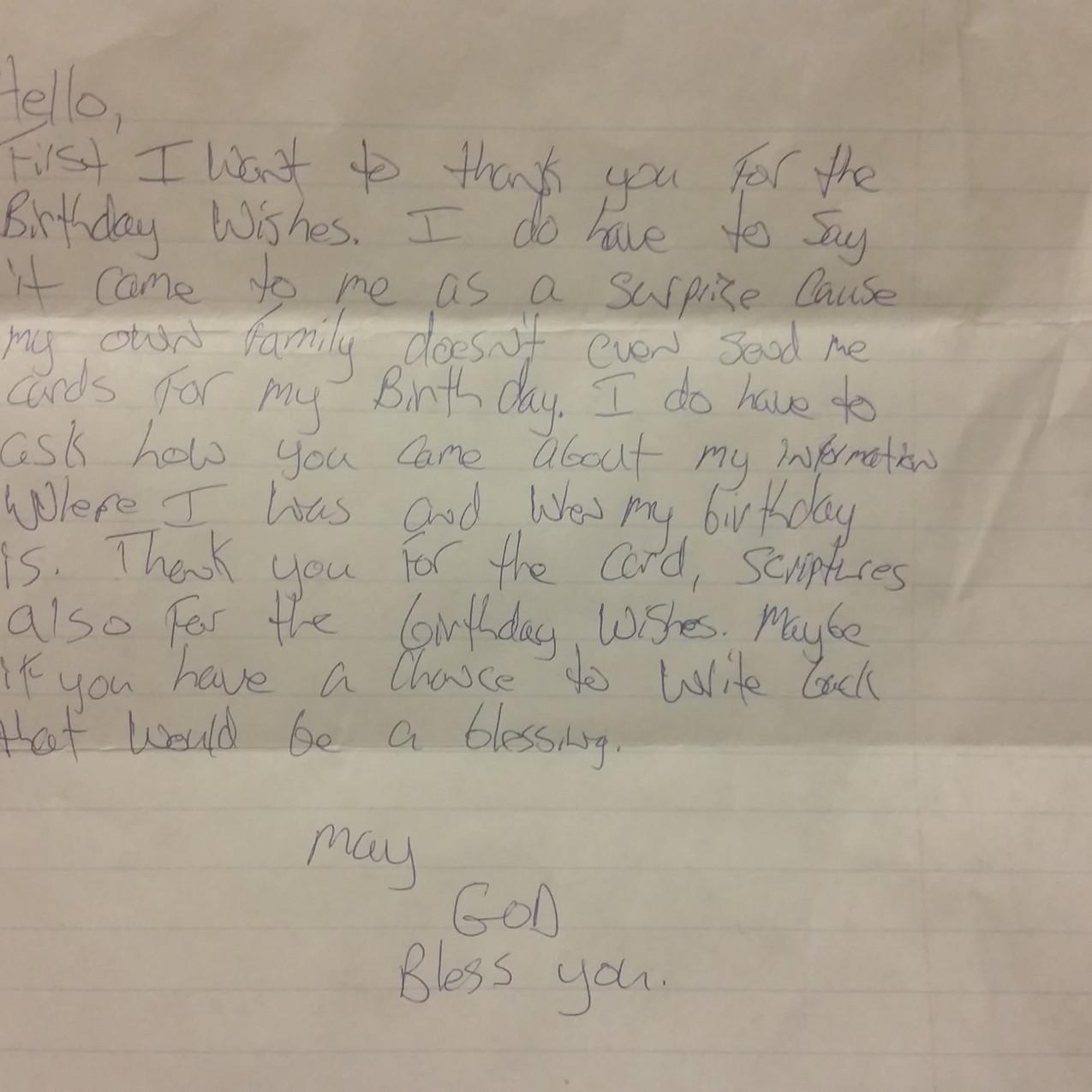 Letter from Tyler