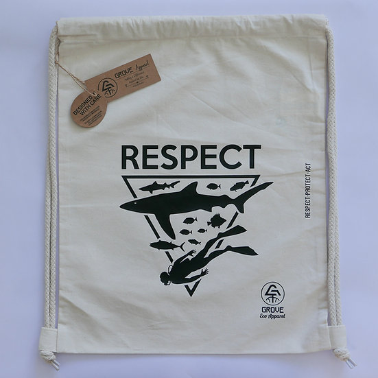 "Drawstring Bag ""Respect Ocean"""