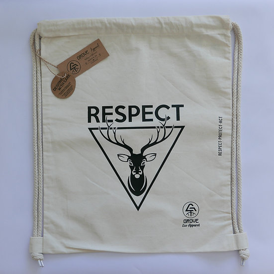 "Drawstring Bag ""Respect Wildlife"""