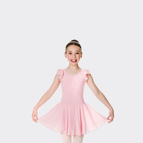 Ballet Pink Studio 7 Cap Sleeve Chiffon Dress