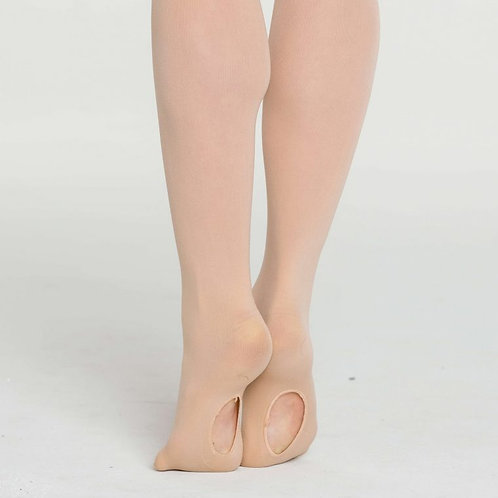 Salmon Pink Studio 7 Convertible Dance Tights
