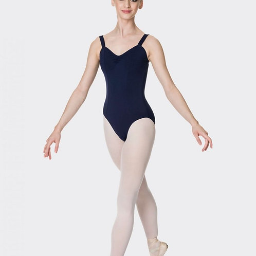 Navy Studio 7 Wide Strap Leotard