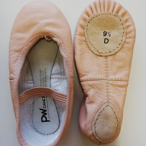 PW Split Sole Leather Ballet Shoe - Child - Clearance