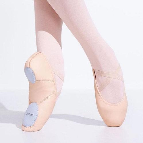 Capezio Leather Juliet Split Sole Ballet Shoe - Adult